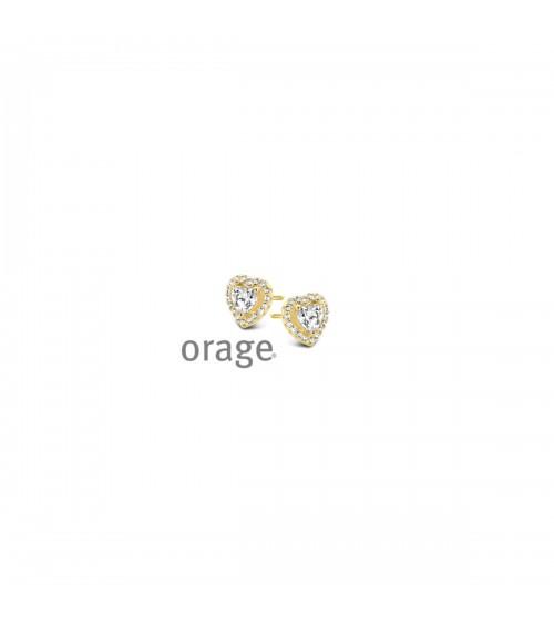 Boucles d'oreilles plaqué or - Orage - Collection Saint-Valentin