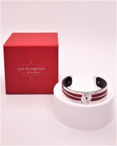 Manchette - Les Georgettes - Osiris - 14mm - Finition argentée