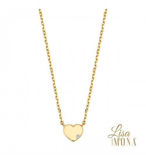 Collier or jaune 14 carats - Lisa Mona