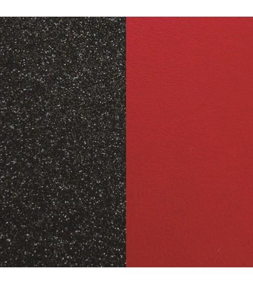 Cuir - Les Georgettes - Cuir Paillettes Noires/Rouge