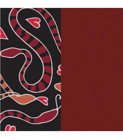 Cuir - Les Georgettes - Motif Serpent Cœur/Carmin