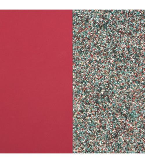 Cuir - Les Georgettes - Cuir Framboise Soft/Paillettes Multicolores