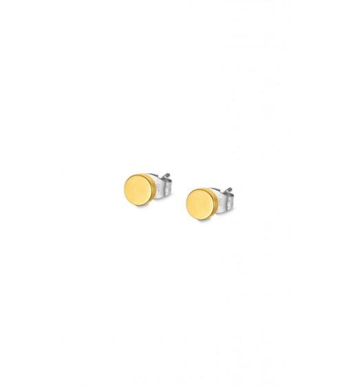 Boucles d'oreilles - Collection acier - plaqué or - Hommes