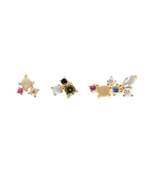 Boucles d'oreilles plaqué or - PD Paola - Collection ATELIER