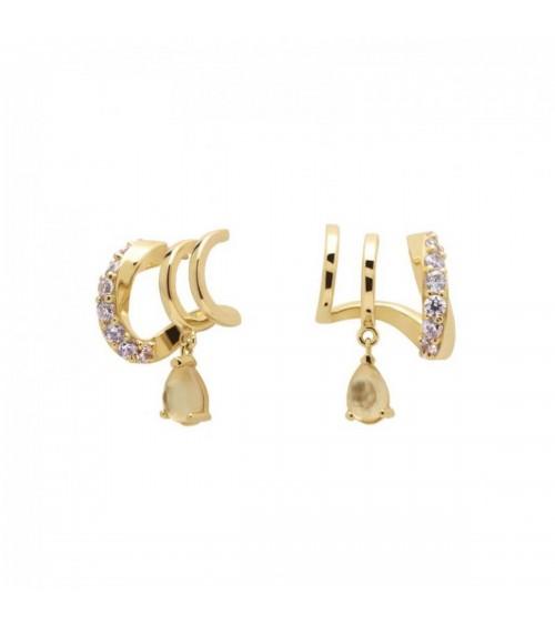 Boucles d'oreilles plaqué or - PD Paola - Collection CAVALIER