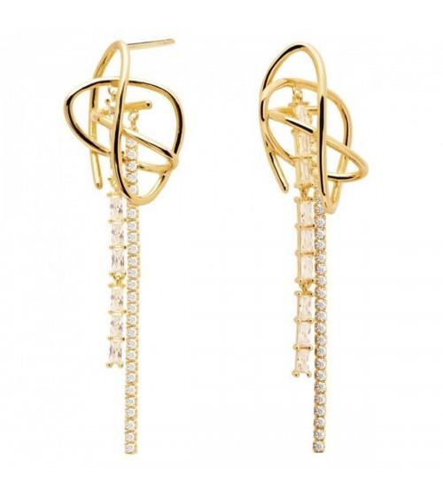 Boucles d'oreilles plaqué or - PD Paola - Collection AISHA