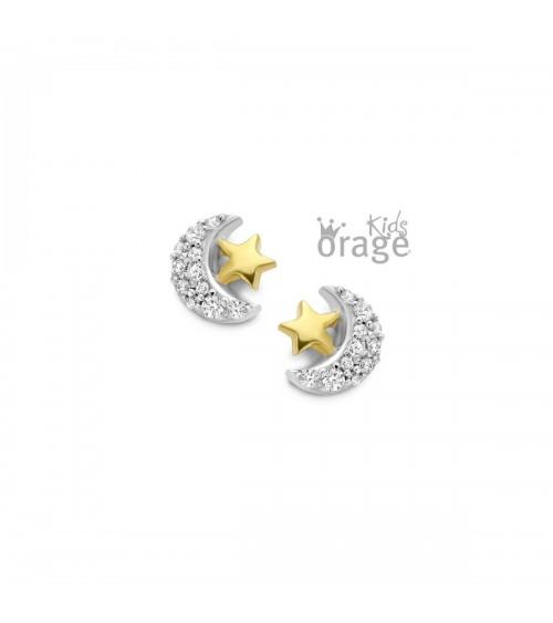 Boucles d'oreilles Bicolore - Orage - Collection kids