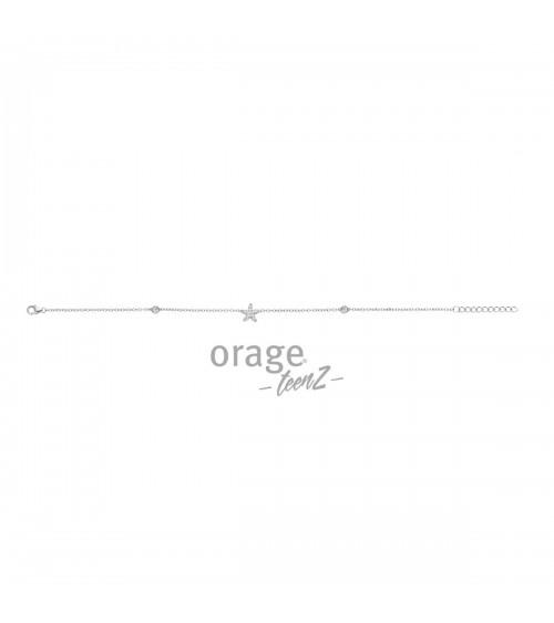 Bracelet de cheville Argent - Orage - Collection TeenZ