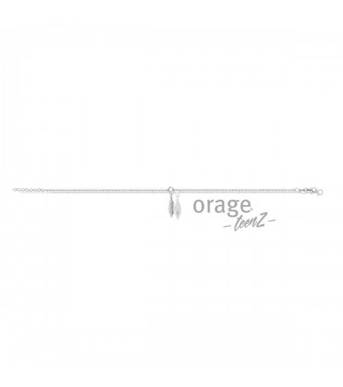 Bracelet Cheville Argent - Orage - Collection TeenZ