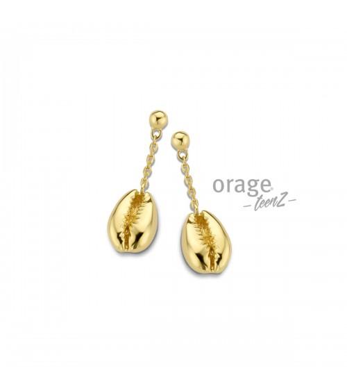 Boucles d'oreilles Argent - Plaqué or - Orage - Collection TeenZ