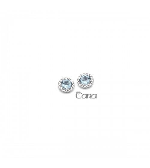 Boucles d'oreilles or blanc 18 carats - CARA