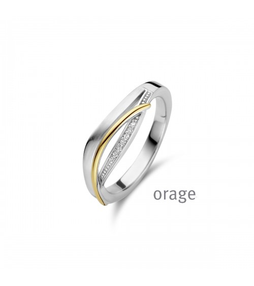 Bague Argent - Bicolore - Orage