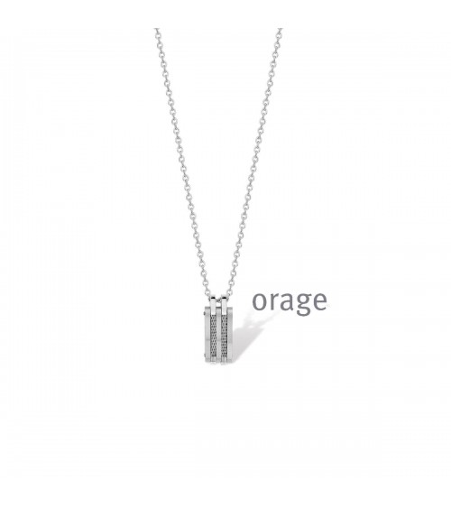 Collier Acier - Orage - Collection homme