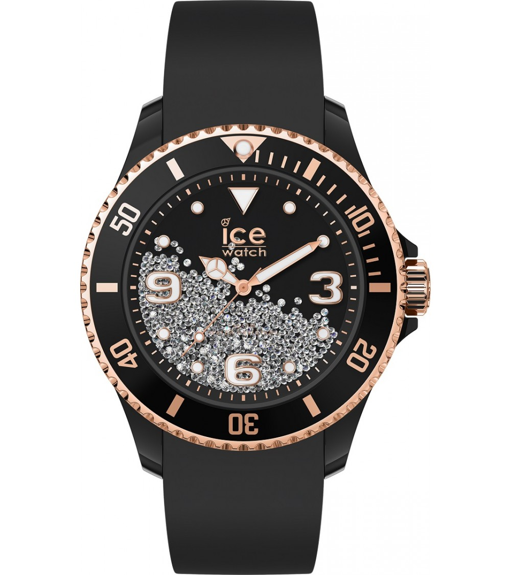 Montre ICE Crystal - Ice Watch - Black rose-gold M