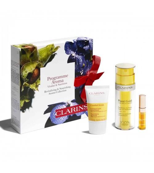 """Coffret CLARINS - Programme """"Aroma vitalité et nutrition"""""""