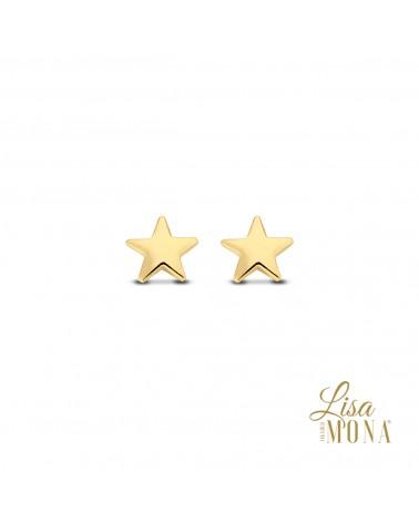 Boucles d'oreilles or jaune 14 carats - Lisa Mona