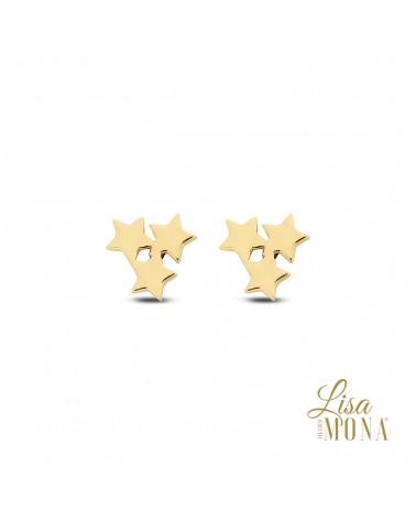 Boucles or jaune 14 carats - Lisa Mona