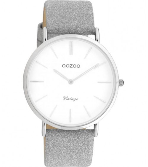 Montre OOZOO - Vintage series - Silver/white