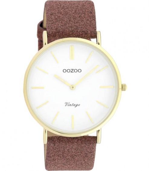 Montre OOZOO - Vintage series - Warm pink/white