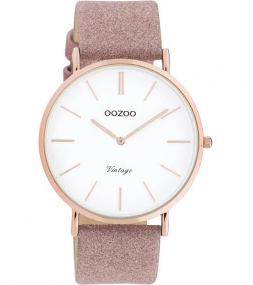 Montre OOZOO - Vintage series - Old pink/white
