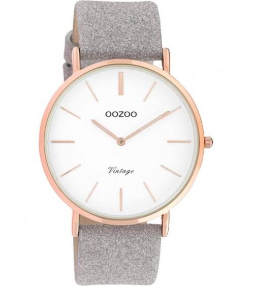Montre OOZOO - Vintage series - Taupe/white