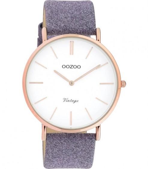 Montre OOZOO - Vintage series - Violet/white