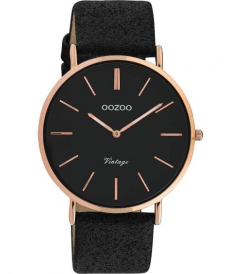 Montre OOZOO - Vintage series - Black/black
