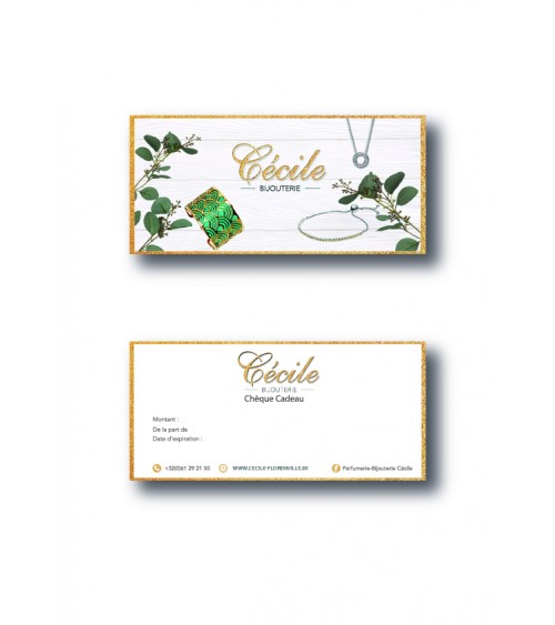 Chèque cadeau Bijouterie Cécile Florenville