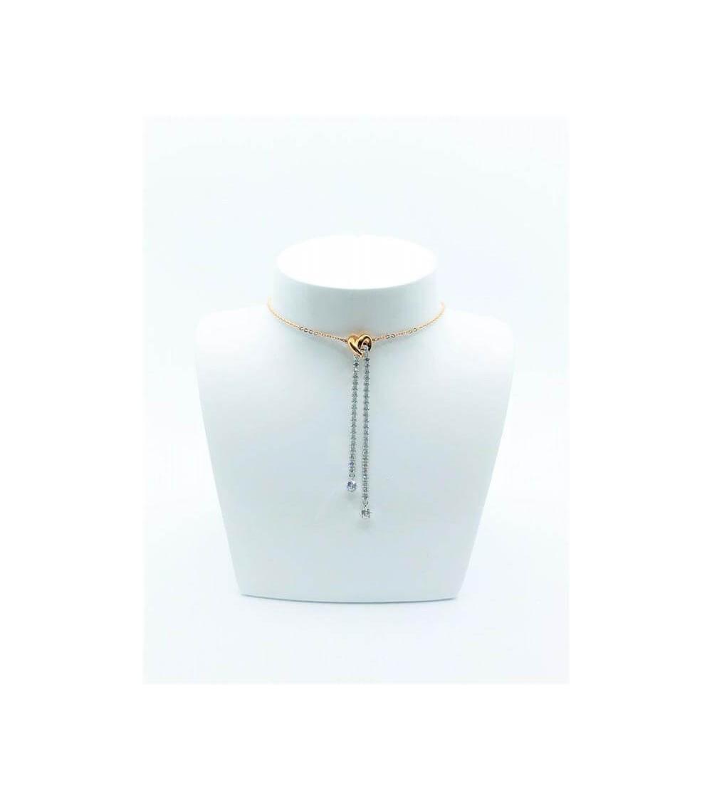 Collier Métal Bicolore - Swarovski - Collection Lifelong Heart