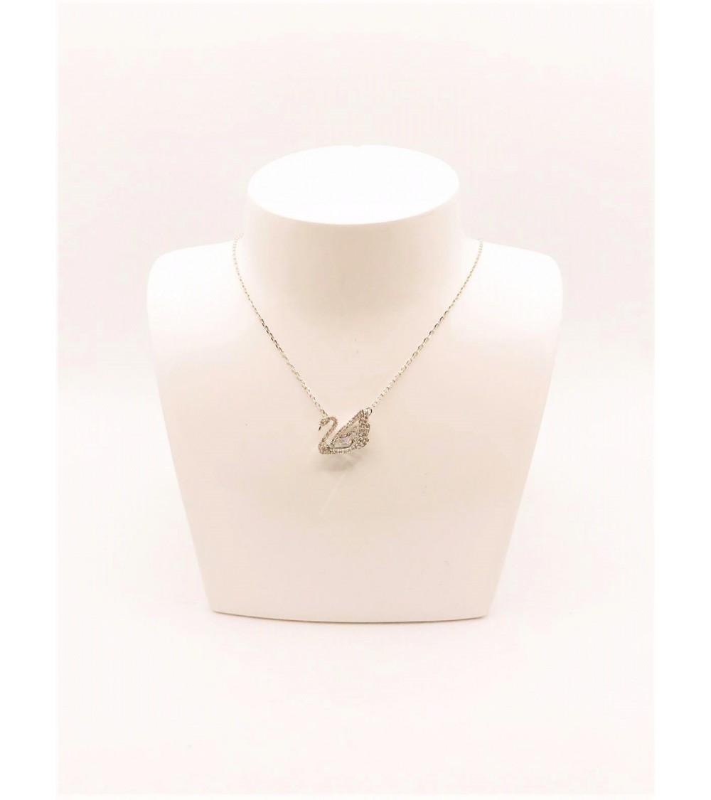 Collier Métal Argenté - Swarovski - Collection Dancing Swan