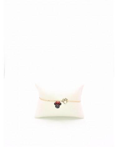 Bracelet Métal Doré - Swarovski - Collection Mickey and Minnie