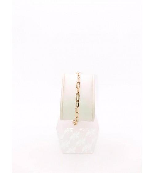 Bracelet Métal Doré - Swarovski - Collection The Elements Chain