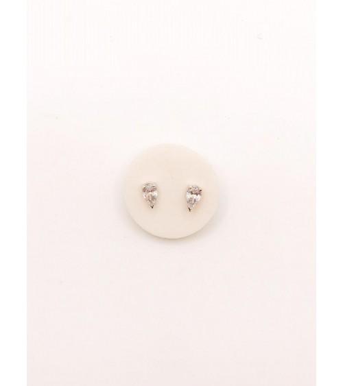 Boucles d'oreilles Métal Argenté - Swarovski - Collection Attract