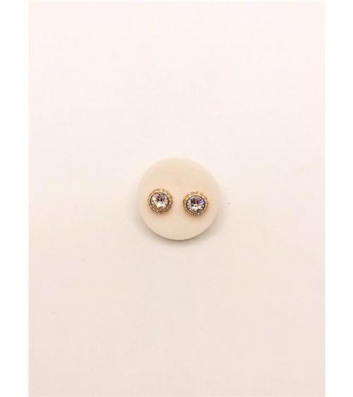 Boucles d'oreilles Métal Doré - Swarovski - Collection Angelic