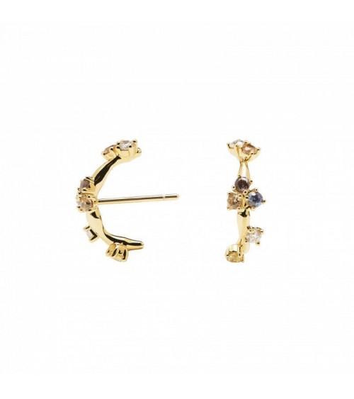 Boucles d'oreilles plaqué or - PD Paola - Collection FIVE