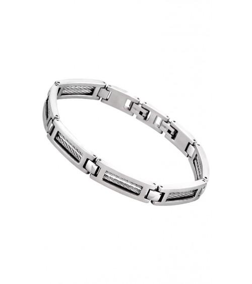 Bracelet Lotus - Collection acier - Hommes