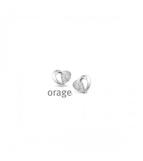 Boucles d'oreilles argent - Orage - Collection Saint-Valentin
