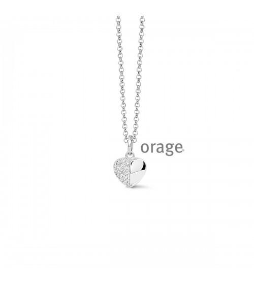 Collier argent - Orage - Collection Saint-Valentin