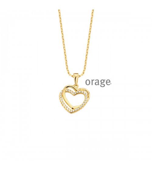 Collier plaqué or - Orage - Collection Saint-Valentin